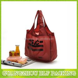 (BLF-NW076)one color printing nylon foldable shopping bag