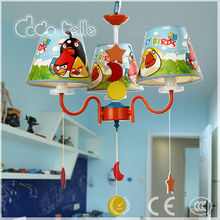 Low voltage amazing birds pattern children LED pendant lamp ceiling light with 3 lamps