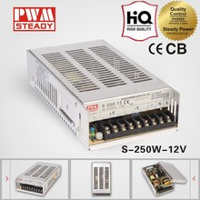 high quality S-250-12 12v18a s250 dc adjustable output power supply voltage oem