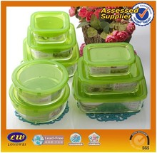 wholesale oven and microwave safe glass lunch box / glass food storage containers