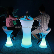 2015 HOT Sale color change LED light round Bar Table With wireless control