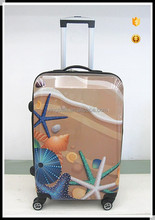 color print ABS/PC hardside luggage/ Travel Trolley Luggage