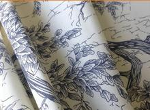 china style 100% cotton canvas printed woven fabric for home textile