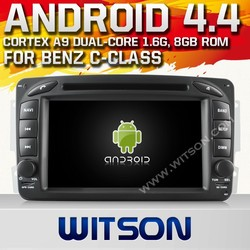 WITSON ANDROID 4.4 FOR MERCEDES-BENZ C-CLASS W203 CAR RADIO DVD GPS WITH 1.6GHZ FREQUENCY DVR SUPPORT WIFI APE MUSIC