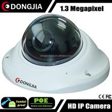 DONGJIA DJ-IPC-HD6134HD-POE H.264 Dual Stream Vandalproof Dome 1.3mp 960h camera
