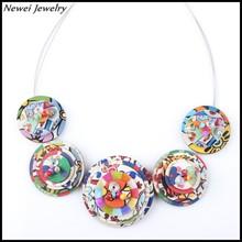 Newei 2015 Fashion Teen Necklace Jewelry Handmade Annulus Pattern Choker Collar