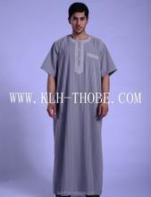 2015 Muslim Men Thobe Hot Sales New Style Robe Arabic Thobe
