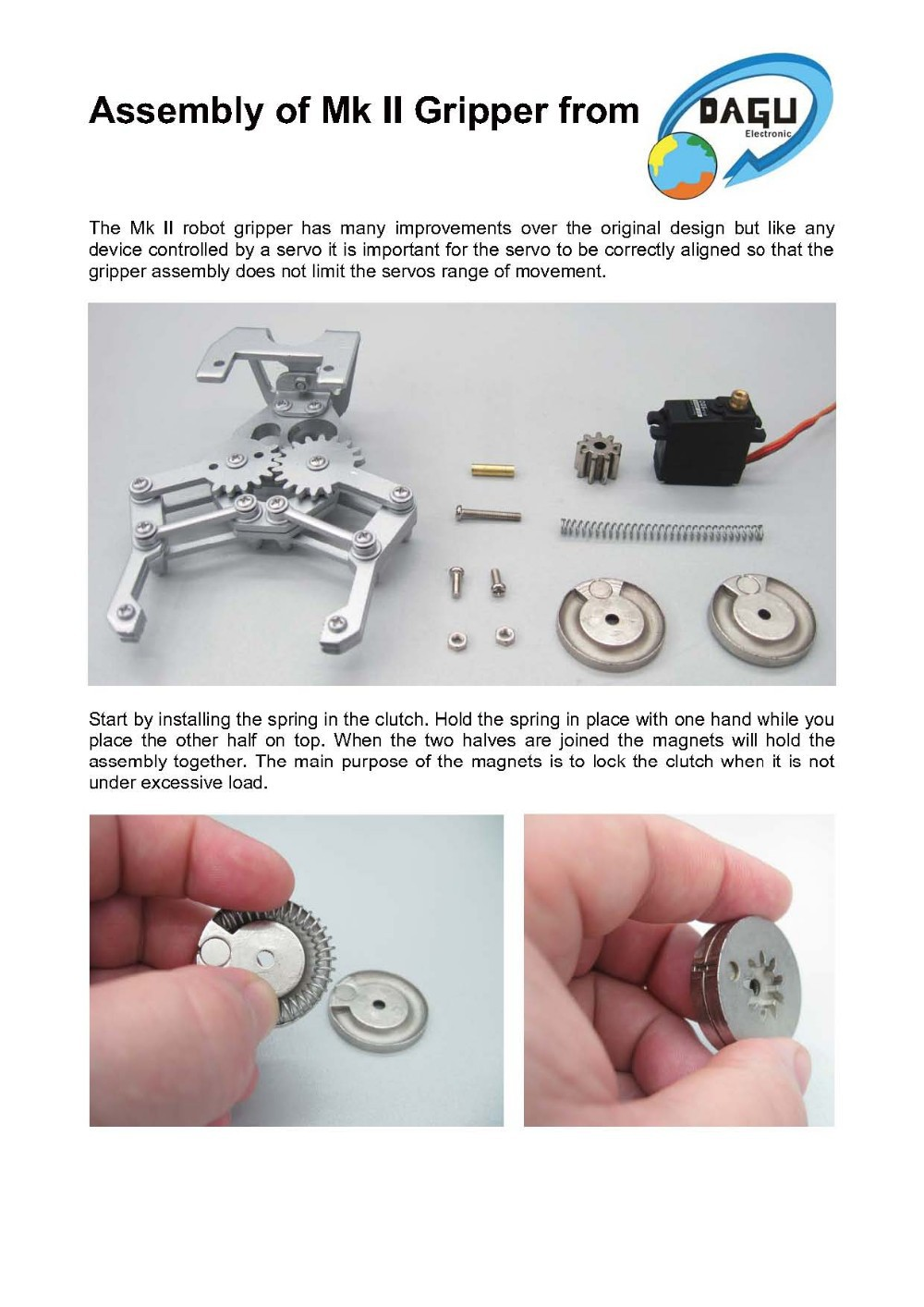 Assembly Instructions for Mk II Gripper1