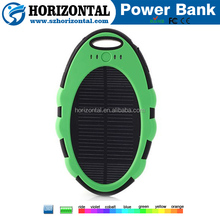 portable power bank solar panel 5000mah solar power bank for smartphone for iphone use for ipad mini