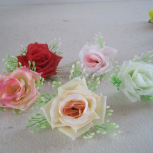 cheap price wholesale romantic rose flower with babysbreath for wedding home decoration