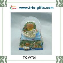 personalized ceramic water globe