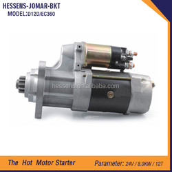 EC360 Engine anto starter motor for volvo from Guangzhou China