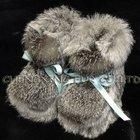 Cx- sapatos- 07 genunie rabbit fur baby calçados