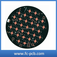 Round Aluminium LED Light PCB , LED PCB