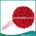 Bonito do casamento decorativa 25 cm flor Artificial bola vinho tinto