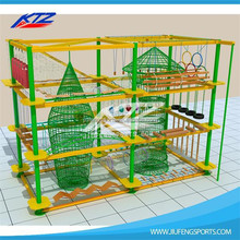 2015 new fashion kids playground high ropes course equipment