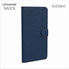 Universal leather smart cover cases for 5 inch phone case