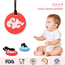 Baby Charm Pendant/Mom Wearing Necklace Teething Baby