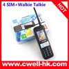 4400mah long talk time mobile phone with 4 sim card China star times mobile phone with antenna walkie talkie
