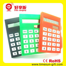 Bottom price portable smart promotional calculator with pen holder and paper