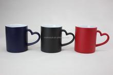 Matt black color changing photo mug