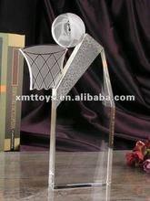 crystal basketball trophy cup laser engrave logo in 25cm