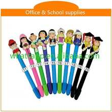 Hot sale new design cheap polymer clay ball pen custom metal pen clips