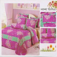 Brand pretty flowers bedding set cotton patchwork quilt