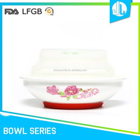 Ceramic great material FDA microwavable bowl with lid