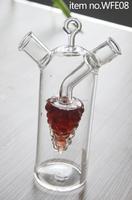 Grape style oil and vinegar art bottles/borosilicate glass oil bottle