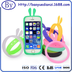 Hot sell multi-function night light glow luminous colorful soft silicone ring case bumper phone case
