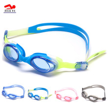Customed multi color waterproof wholesale UV protective anti-fog durable silicone one piece swimming goggles