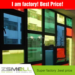reflective car window tint film/rainbow window film/plastic stained glass sheets