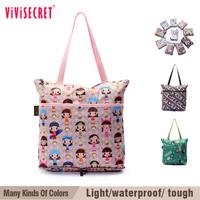 Vivisecret brand shopping bags fold reusable lady nylon shopping bags