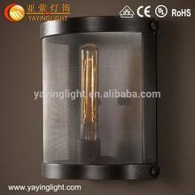 Lampada da parete in ferro battuto, lampada stile loft, antiquariato indiano lampada a sospensione in vetro