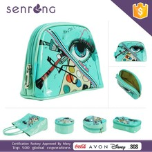 Professional custom all kinds of fashion beautiful makeup bag/pu pvc cosmetic bag