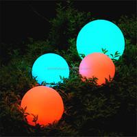 PBB-200 outdoor color changing plastic solar ball waterproof solar lighting globe