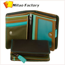 Promotion Gift Leather Business Card Holder Medium Wallet Zipround Purse for Lady Exquisite External Zipped Coin Pocket Wallet