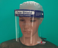 Hot selling medical anti-fog surgical Full Face Visor Mask/ disposable face shield