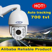 high quality dc12v 30x waterproof ir cctv ptz dome camera auto tracking 180m 700 tvl