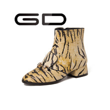 GD metal decoration buckle women fashion booties
