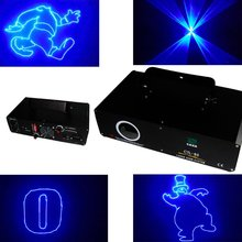 300Mw single beam Blue SD Card Cartoon Disco stage light Projector Show