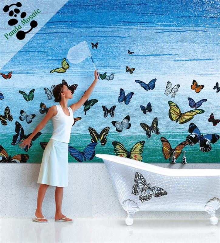 Mb pmb12 kleine vogel ontwerp handgemaakte dier muur tegel muurschildering chinese moza ek - Ontwerp muurschildering ...