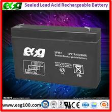 UPS battery 6v 7ah agm maintenance free lead acid battery
