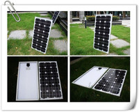 High efficiency mono-crystalline silicon solarpanel 50W/12V solar system