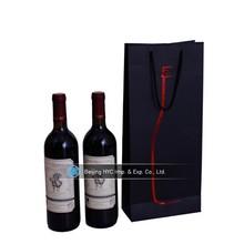 Customed fashion luxury kraft paper gift bag for wine red wine gift paper bag