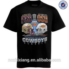custom factory production 3d embroidery t-shirts for promotion