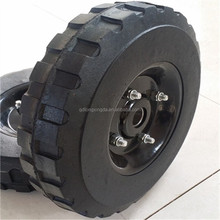 solid rubber wheels 8inch with metal hub and screws