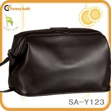 top grade luxury business leather toiletry bag men wash bag for unisex