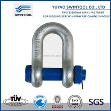 SGS certificated rigging hardware stamped bow shackle